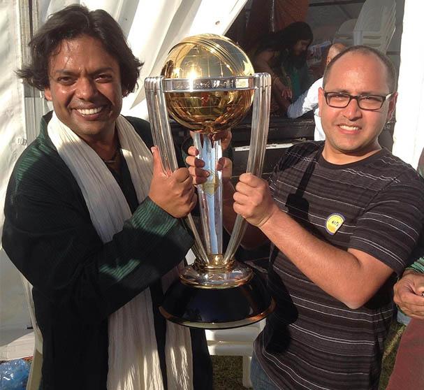 Shaker vijayan With worl cup