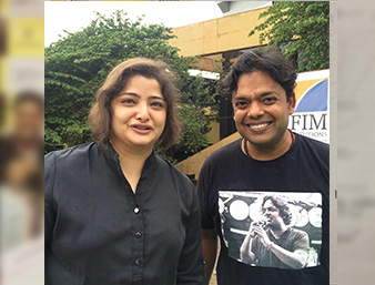 With Vasundhara das .. actress and singer